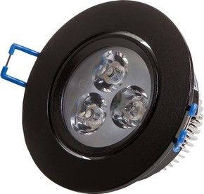 Scharnberger+Hasenbein LED-Einbaustrahler schwarz 4W 230VAC 3000K 30Gr 53559