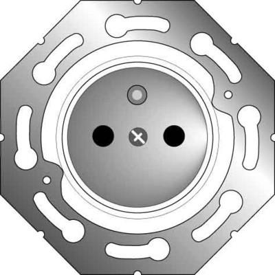 Elso UP-Steckdoseneinsatz MSK achatgrau 2855212