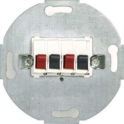 Peha Lautsp.-Anschlussdose reinweiß Stereo D 1930/4.02 O.A.