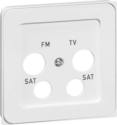 Peha Abdeckung 4-fach reinweiß für Antennendose D 95.610.02 TV/4A