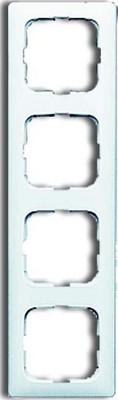Busch-Jaeger Rahmen 4-fach alpinweiß f.Kanalabdeckungen 2514-214K-102