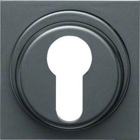 Hager Abdeckung anthrazit f. Schlüsselschalter WYA437