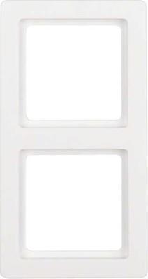 Berker Rahmen polarweiss, samt 2-fach 10126089