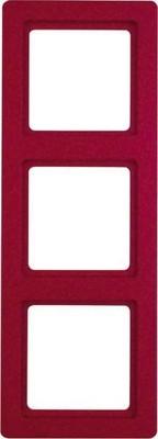 Berker Rahmen rot, samt 3-fach 10136062