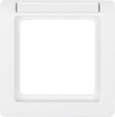 Berker Rahmen mit Beschriftungsf. d polarweiss, samt 10116019