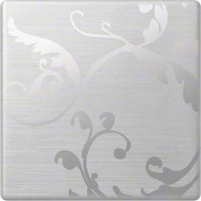 Hager Wippe aluminium floral geschlossen WYA066A2