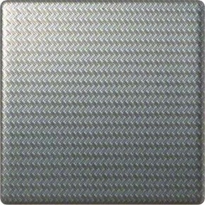 Hager Wippe aluminium strukturiert geschlossen WYA066A4