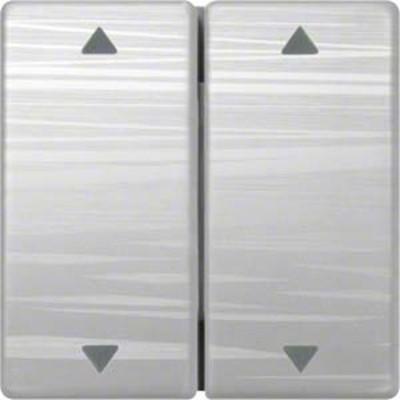 Hager Wippe aluminium liniert für Gruppentaster WYA146A3