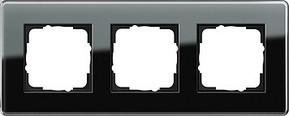 Gira Abdeckrahmen 3-fach ch Esprit Glas C schwarz 0213505
