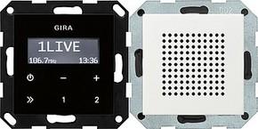 Gira Unterputz-Radio RDS System 55 reinweiß 228003