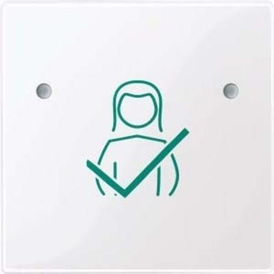 Merten Tastfläche 1-fach aktivweiß glänzend für Abstell-Taster MEG4841-0325