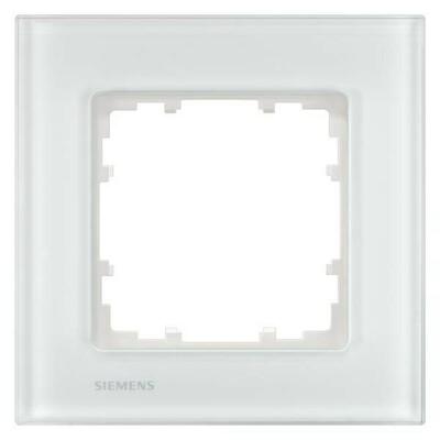 Siemens Indus.Sector Rahmen 1-fach Delta Miro Glas,ws 5TG1201-1