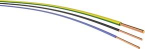 H07V-U 2,5 schwarz Ring 100m  Aderltg eindrähtig H07V-U 2,5 sw