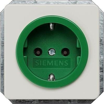 Siemens Indus.Sector Schuko-Dose Delta Profil, Grün 5UB1481