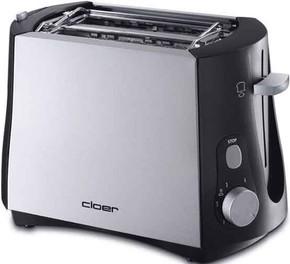 Cloer Toaster 2 Scheiben 3410 sw/metall matt