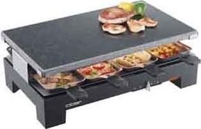 Cloer Raclette-Grill 8 Pfän. Steinplatte 6420