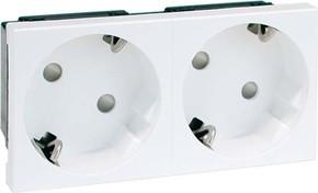Peha SCHUKO-Steckdose 2-fach weiß 16A 250V 2-pol.45G D 6212.02 EMS SI WI