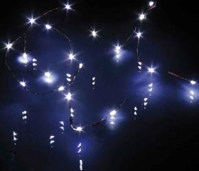 Hellum LED-Lichterkette 20-tlg. weiß batteriebetrieb 570717