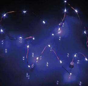 Hellum LED-Lichterkette 20-tlg. blau,batteriebetrieb 570724