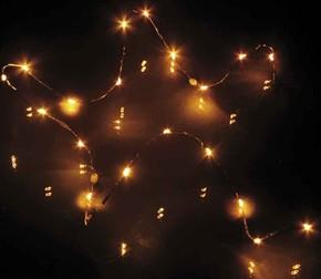 Hellum LED-Lichterkette 20-tlg. gelb,batteriebetrieb 570731