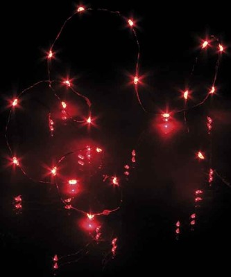 Hellum Glühlampenwerk LED-Lichterkette 20-tlg. rot, batteriebetrieb 570755