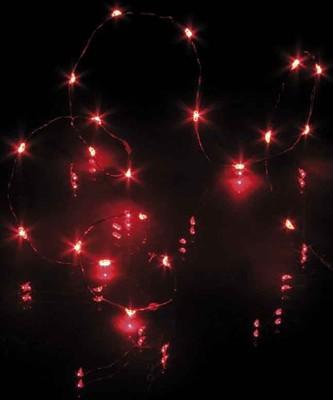 Hellum LED-Lichterkette 20-tlg. rot, batteriebetrieb 570755