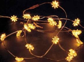 Hellum LED-Lichterkette m.Sternen 20-tlg. gelb, batt. 570830