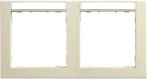 Hager Rahmen 2-f. cre mit Besch.feld.waag. WYR121BW