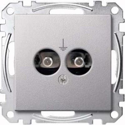 Merten Steckdosen-Einsatz aluminium MEG2100-0460