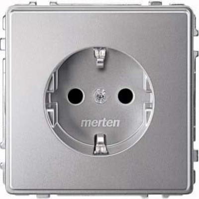 Merten SCHUKO-Steckdose aluminium Berührungsschutz MEG2300-7260