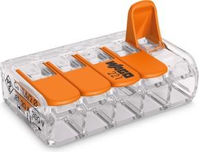 WAGO Kontakttechnik Compact-Verbindungsklemme 5-Leiter bis 4qmm 221-415