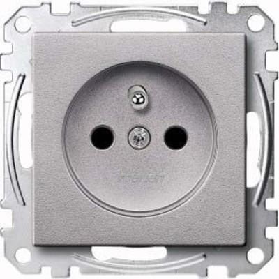 Merten Steckdose aluminium Schutzk.stift BRS MEG2500-0460