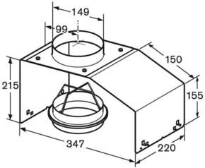 Bosch Großgeräte Montagehilfe f. Lüfterbausteine DHZ7402