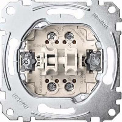 Merten Doppeltaster-Einsatz 2S 1-pol.10A 250V AC MEG3055-0000