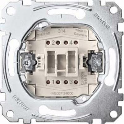 Merten Ausschalter-Einsatz 2-pol.10AX 250V AC MEG3112-0000