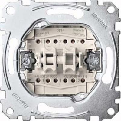 Merten Doppelwechselschalter-Eins 1-pol.10AX 250V AC MEG3126-0000