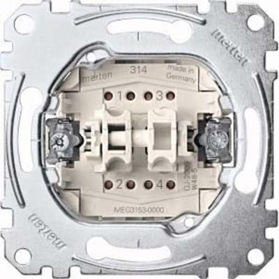 Merten Doppeltaster-Einsatz 1S/1Ö 1-pol.10A 250V AC MEG3153-0000