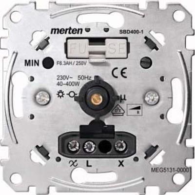 Merten Drehdimmer-Einsatz Auss. f.ohm.Last 40-400W MEG5131-0000