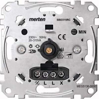Merten Drehdimmer-Einsatz f.kap.Last 20-315W MEG5136-0000