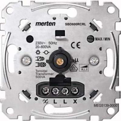 Merten Universal-Drehdimmer-Eins. 20-600 W/VA MEG5139-0000