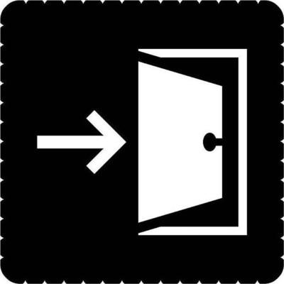 Busch-Jaeger Piktogramm Ausgang für 2068/14-xxx 2144/56-19