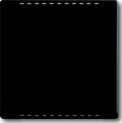 Busch-Jaeger Zentralscheibe schwarz mt Kühlteil,UP-Drehdim. 6541-885