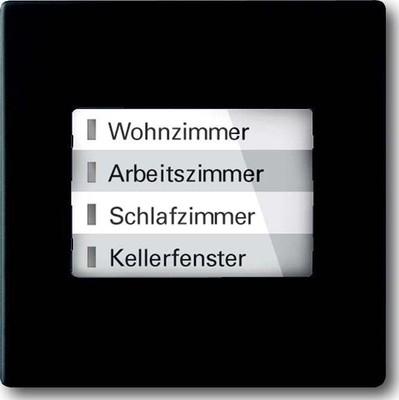 Busch-Jaeger LED-Anzeige WaveLINE schwarz matt 6730-885
