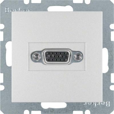 Berker Steckdose VGA aluminium matt 3315401404