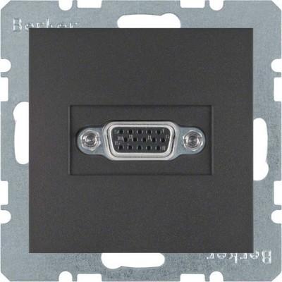Berker Steckdose VGA anthrazit matt 3315401606