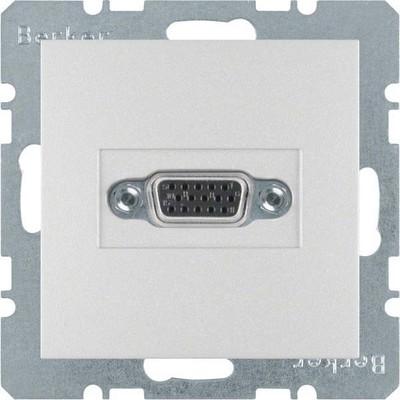Berker Steckdose VGA m.Klemmen, aluminium matt 3315411404