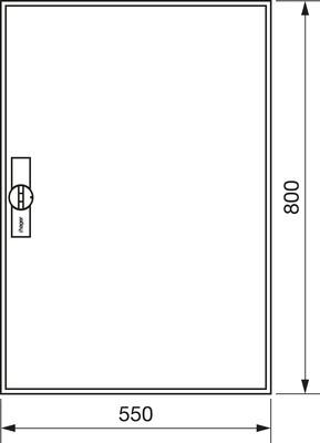 Hager Zählerschrank,universZ 800x550x205,IP44 ZB12S