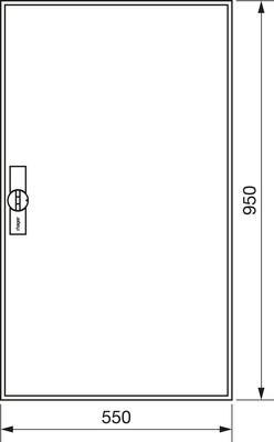 Hager Zählerschrank,universZ 950x550x160,IP44 ZB22ES