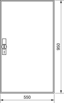 Hager Zählerschrank,universZ 950x550x205,IP44 ZB22S