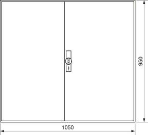 Hager Zählerschrank,universZ 950x1050x205,IP44 ZB24S